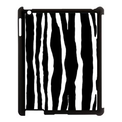 Zebra Background Pattern Apple iPad 3/4 Case (Black)