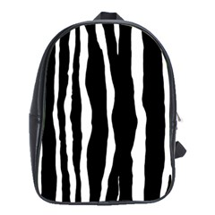 Zebra Background Pattern School Bags (xl)