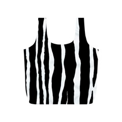 Zebra Background Pattern Full Print Recycle Bags (s)