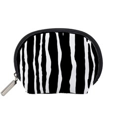 Zebra Background Pattern Accessory Pouches (small)