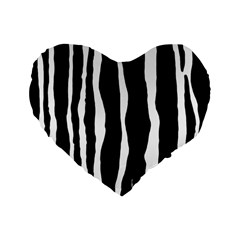 Zebra Background Pattern Standard 16  Premium Flano Heart Shape Cushions