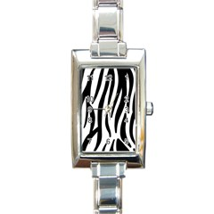 Seamless Zebra A Completely Zebra Skin Background Pattern Rectangle Italian Charm Watch