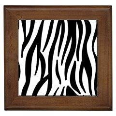 Seamless Zebra A Completely Zebra Skin Background Pattern Framed Tiles