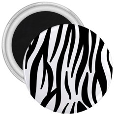 Seamless Zebra A Completely Zebra Skin Background Pattern 3  Magnets