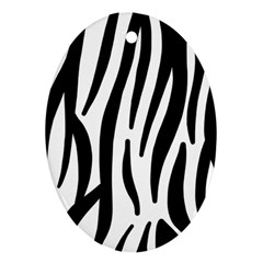 Seamless Zebra A Completely Zebra Skin Background Pattern Ornament (oval)