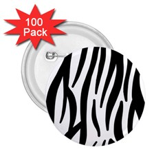 Seamless Zebra A Completely Zebra Skin Background Pattern 2 25  Buttons (100 Pack)