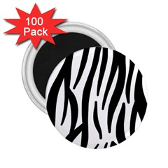 Seamless Zebra A Completely Zebra Skin Background Pattern 2 25  Magnets (100 Pack)