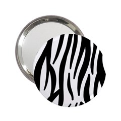 Seamless Zebra A Completely Zebra Skin Background Pattern 2 25  Handbag Mirrors