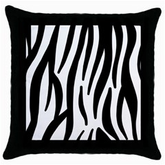 Seamless Zebra A Completely Zebra Skin Background Pattern Throw Pillow Case (black)