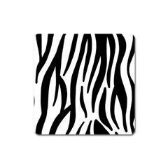 Seamless Zebra A Completely Zebra Skin Background Pattern Square Magnet