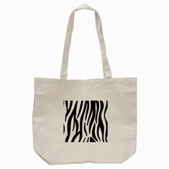 Seamless Zebra A Completely Zebra Skin Background Pattern Tote Bag (cream)