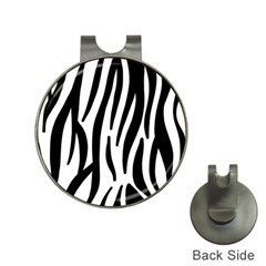 Seamless Zebra A Completely Zebra Skin Background Pattern Hat Clips With Golf Markers