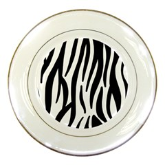 Seamless Zebra A Completely Zebra Skin Background Pattern Porcelain Plates