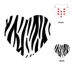 Seamless Zebra A Completely Zebra Skin Background Pattern Playing Cards (heart)