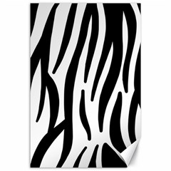 Seamless Zebra A Completely Zebra Skin Background Pattern Canvas 24  x 36