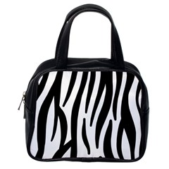 Seamless Zebra A Completely Zebra Skin Background Pattern Classic Handbags (one Side)