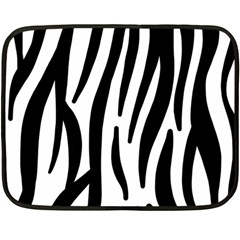 Seamless Zebra A Completely Zebra Skin Background Pattern Double Sided Fleece Blanket (mini)