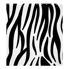 Seamless Zebra A Completely Zebra Skin Background Pattern Shower Curtain 66  X 72  (large)