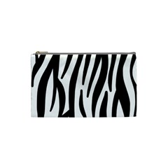 Seamless Zebra A Completely Zebra Skin Background Pattern Cosmetic Bag (small)
