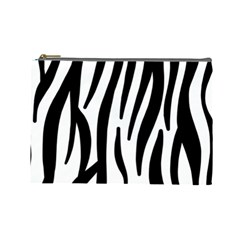 Seamless Zebra A Completely Zebra Skin Background Pattern Cosmetic Bag (Large)