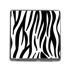 Seamless Zebra A Completely Zebra Skin Background Pattern Memory Card Reader (square)
