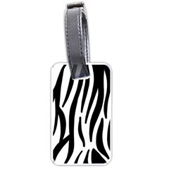Seamless Zebra A Completely Zebra Skin Background Pattern Luggage Tags (one Side)