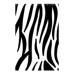 Seamless Zebra A Completely Zebra Skin Background Pattern Shower Curtain 48  X 72  (small)