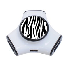 Seamless Zebra A Completely Zebra Skin Background Pattern 3 Port Usb Hub