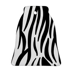 Seamless Zebra A Completely Zebra Skin Background Pattern Bell Ornament (two Sides)