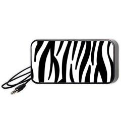 Seamless Zebra A Completely Zebra Skin Background Pattern Portable Speaker (black)