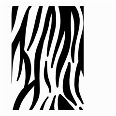 Seamless Zebra A Completely Zebra Skin Background Pattern Small Garden Flag (two Sides)