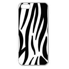Seamless Zebra A Completely Zebra Skin Background Pattern Apple Seamless Iphone 5 Case (clear)