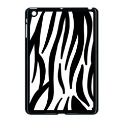 Seamless Zebra A Completely Zebra Skin Background Pattern Apple Ipad Mini Case (black)