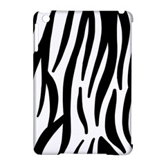 Seamless Zebra A Completely Zebra Skin Background Pattern Apple Ipad Mini Hardshell Case (compatible With Smart Cover)