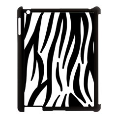 Seamless Zebra A Completely Zebra Skin Background Pattern Apple Ipad 3/4 Case (black)