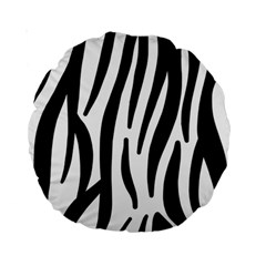 Seamless Zebra A Completely Zebra Skin Background Pattern Standard 15  Premium Round Cushions