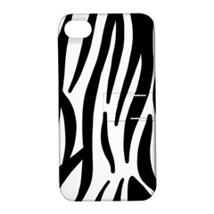 Seamless Zebra A Completely Zebra Skin Background Pattern Apple Iphone 4/4s Hardshell Case With Stand