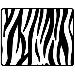 Seamless Zebra A Completely Zebra Skin Background Pattern Double Sided Fleece Blanket (Medium)