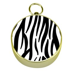 Seamless Zebra A Completely Zebra Skin Background Pattern Gold Compasses