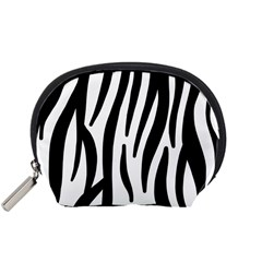Seamless Zebra A Completely Zebra Skin Background Pattern Accessory Pouches (small)