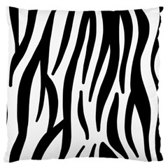 Seamless Zebra A Completely Zebra Skin Background Pattern Large Flano Cushion Case (one Side)