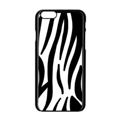 Seamless Zebra A Completely Zebra Skin Background Pattern Apple Iphone 6/6s Black Enamel Case