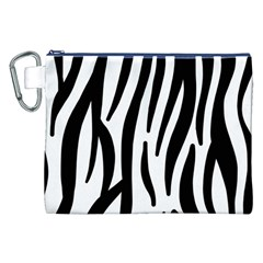 Seamless Zebra A Completely Zebra Skin Background Pattern Canvas Cosmetic Bag (xxl)