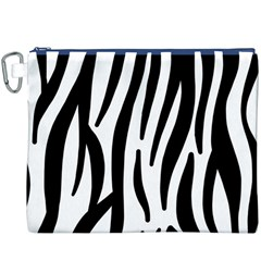 Seamless Zebra A Completely Zebra Skin Background Pattern Canvas Cosmetic Bag (xxxl)