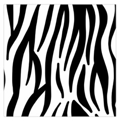 Seamless Zebra A Completely Zebra Skin Background Pattern Large Satin Scarf (Square)
