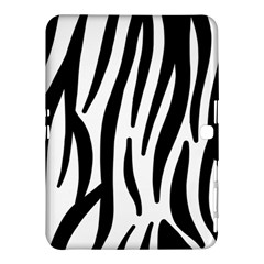 Seamless Zebra A Completely Zebra Skin Background Pattern Samsung Galaxy Tab 4 (10 1 ) Hardshell Case
