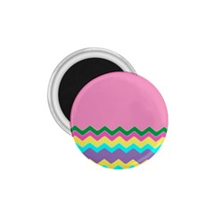 Easter Chevron Pattern Stripes 1 75  Magnets