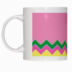 Easter Chevron Pattern Stripes White Mugs