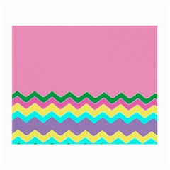 Easter Chevron Pattern Stripes Small Glasses Cloth