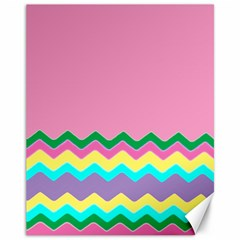 Easter Chevron Pattern Stripes Canvas 11  X 14
